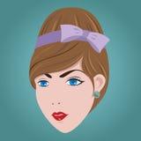 stile di capelli della donna 60s. Immagine Stock