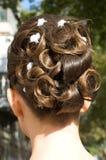 Stile di capelli di cerimonia nuziale Immagine Stock
