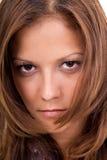 Stile di capelli di giovane donna Fotografia Stock
