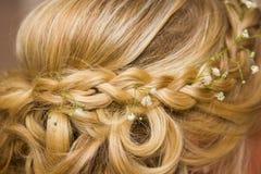 Stile di capelli di nozze Fotografie Stock Libere da Diritti
