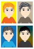 Stile di capelli differente del ragazzo Fotografia Stock Libera da Diritti