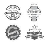 Stile di celebrazioni di Oktoberfest di festival della birra retro illustrazione di stock