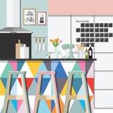 Stile di colore della stanza della cucina Immagini Stock Libere da Diritti