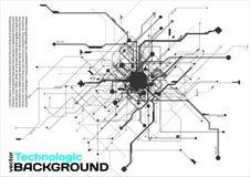 stile di fantascienza di Cyberpunk del fondo del absract di tecnologia di ciao-tecnologia Fotografie Stock Libere da Diritti