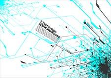 stile di fantascienza di Cyberpunk del fondo del absract di tecnologia di ciao-tecnologia Fotografia Stock Libera da Diritti
