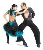 Stile di Latina dei danzatori delle coppie Fotografia Stock Libera da Diritti