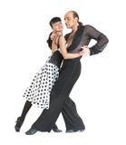 Stile di Latina dei danzatori delle coppie Fotografie Stock Libere da Diritti