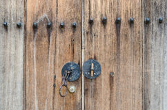 Stile di legno del Coreano della porta Fotografia Stock