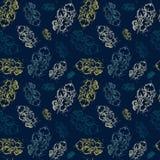 Stile di lerciume dell'ornamento di Autumn Seamless Pattern Background Leaves Immagini Stock Libere da Diritti