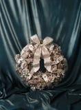Stile di lusso dell'annata della corona di Natale Fotografia Stock