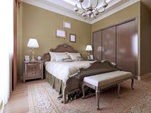 Stile di lusso di inglese della camera da letto Fotografie Stock Libere da Diritti