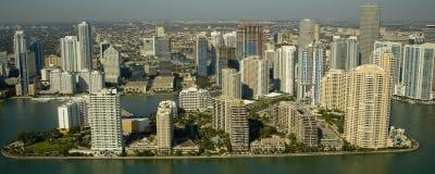 Costruzioni di appartamento a Miami Fotografia Stock Libera da Diritti