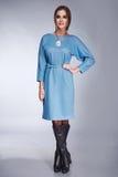 Stile di modo della raccolta del catalogo di trucco dell'abbigliamento delle donne Fotografia Stock