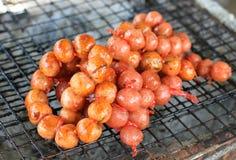 Stile di nordest della salsiccia di alimento tailandese Fotografia Stock Libera da Diritti