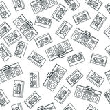stile di nostalgia 80s Modello senza cuciture di retro modo d'annata di 80 ` s illustrazione di stock