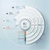 Stile di origami del cerchio di Infographics di affari. Fotografie Stock