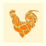 Stile di origami del gallo del fuoco rosso Immagini Stock Libere da Diritti