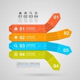Stile di origami della freccia di Infographics di affari Fotografia Stock