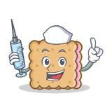 Stile di personaggio dei cartoni animati del biscotto dell'infermiere illustrazione vettoriale