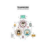 Stile di progettazione grafica di lavoro di squadra moderno Immagine Stock