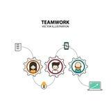 Stile di progettazione grafica di lavoro di squadra moderno Immagini Stock Libere da Diritti