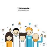 Stile di progettazione grafica di lavoro di squadra moderno Immagini Stock