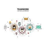Stile di progettazione grafica di lavoro di squadra moderno Immagine Stock Libera da Diritti