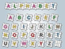Stile di puzzle di alfabeto Immagine Stock