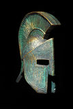 Stile di Sparta del casco del greco antico fotografia stock libera da diritti