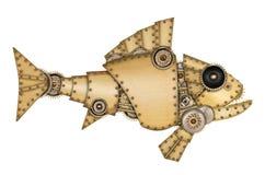 Stile di Steampunk Pesce meccanico industriale Fotografia Stock Libera da Diritti