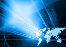 Stile di tecnologia del programma di mondo Immagini Stock