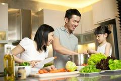 Stile di vita asiatico della famiglia Fotografie Stock