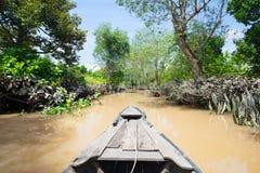 Stile di vita del fiume di delta del Mekong fotografia stock libera da diritti