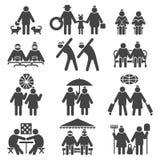 Stile di vita dell'attivo della gente anziana illustrazione vettoriale