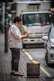 Stile di vita della donna in Hong Kong immagine stock