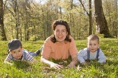 Stile di vita della famiglia fotografia stock libera da diritti