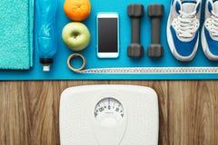 Stile di vita e perdita di peso sani Fotografie Stock Libere da Diritti