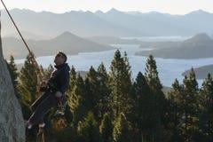 Stile di vita nella Patagonia, arrampicata fotografie stock libere da diritti