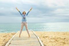 Stile di vita ottimista Potere di una donna positiva fotografie stock