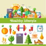 Stile di vita sano royalty illustrazione gratis