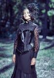 Stile di vittoriano della ragazza Fotografia Stock