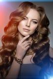 Stile di Vogue di alta moda di Girl Beauty Woman del modello di alta moda Immagine Stock Libera da Diritti