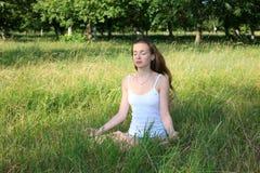 Stile di yoga Fotografie Stock