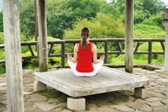 Stile di yoga Fotografie Stock Libere da Diritti