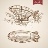 Stile disegnato a mano dell'incisione di Santa New Year di Natale Immagini Stock Libere da Diritti