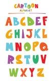 Stile divertente ABC del fumetto per i bambini Immagine Stock
