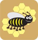 Stile dolce del fumetto dell'ape mellifica del miele delle api dell'ape illustrazione di stock