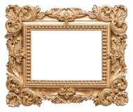 Stile dorato di barocco della cornice Oggetto d'annata di arte Immagini Stock Libere da Diritti