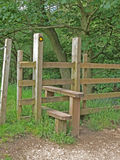 Stile in Dovedale, Derbyshire. Royalty Free Stock Photography