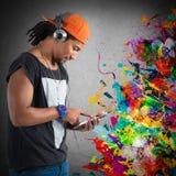 Stile e musica del hip-hop Immagine Stock Libera da Diritti